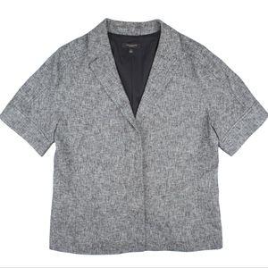 ANN TAYLOR Tweed Short Sleeve Blazer Jacket